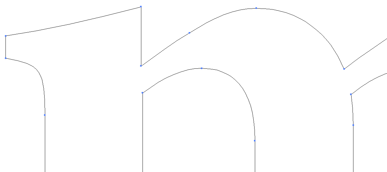 Screen shot of a vector drawing showing points and lines.