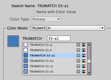 Screenshot showing the Trumatch library in use.